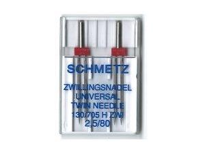 SCHMETZ Dobbelt nål 2.0 mm