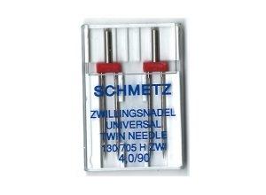SCHMETZ Dobbelt nål 4.0 mm