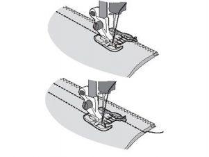 Husqvarna Viking Klar trykfod med styrekant