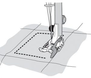 Husqvarna Viking Patchworkfod ¼'' med lineal (klar)