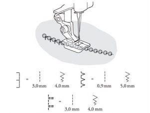 Husqvarna Viking Perletrykfod 4 mm