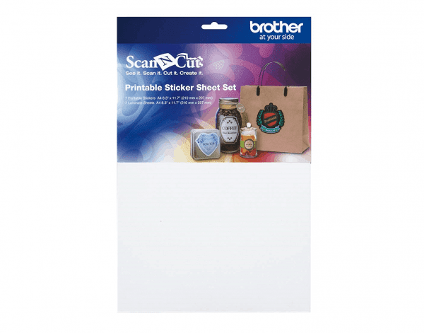 Brother ScanNcut Printable Sticker Sheet Set