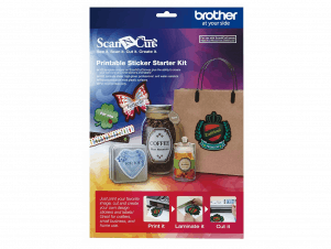 Brother ScanNcut Printable Sticker Starter Kit (Etikette Start Kit)