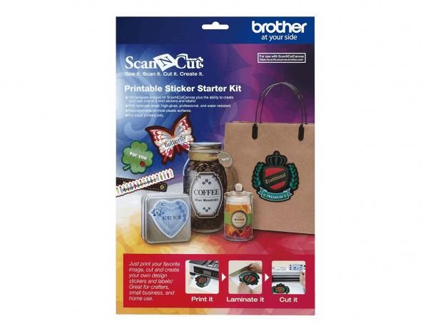 Brother ScanNcut Printable Sticker Starter Kit (Etikette Start Kit)