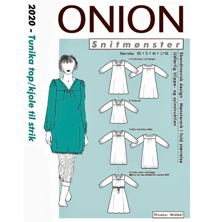 78f809266 Onion snitmønster 2020 (Tunika/top/kjole)