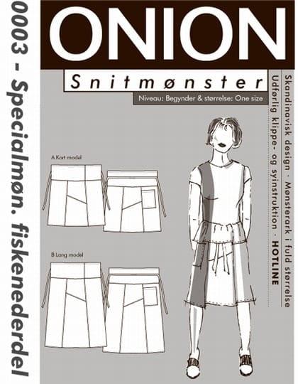 Onion Snitmønster 0003 (Fiskenederdel)