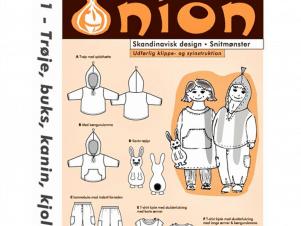 Onion Snitmønster 10011 (Hættetrøje, kjole, kanin, buks)