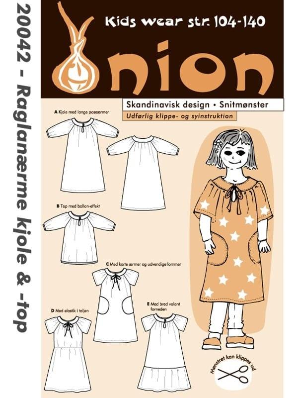 Billede af Onion Snitmønster 20042 (Raglanærmekjole & top)