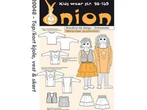 Onion Snitmønster 20048 (Top/kort kjole, vest & skørt)
