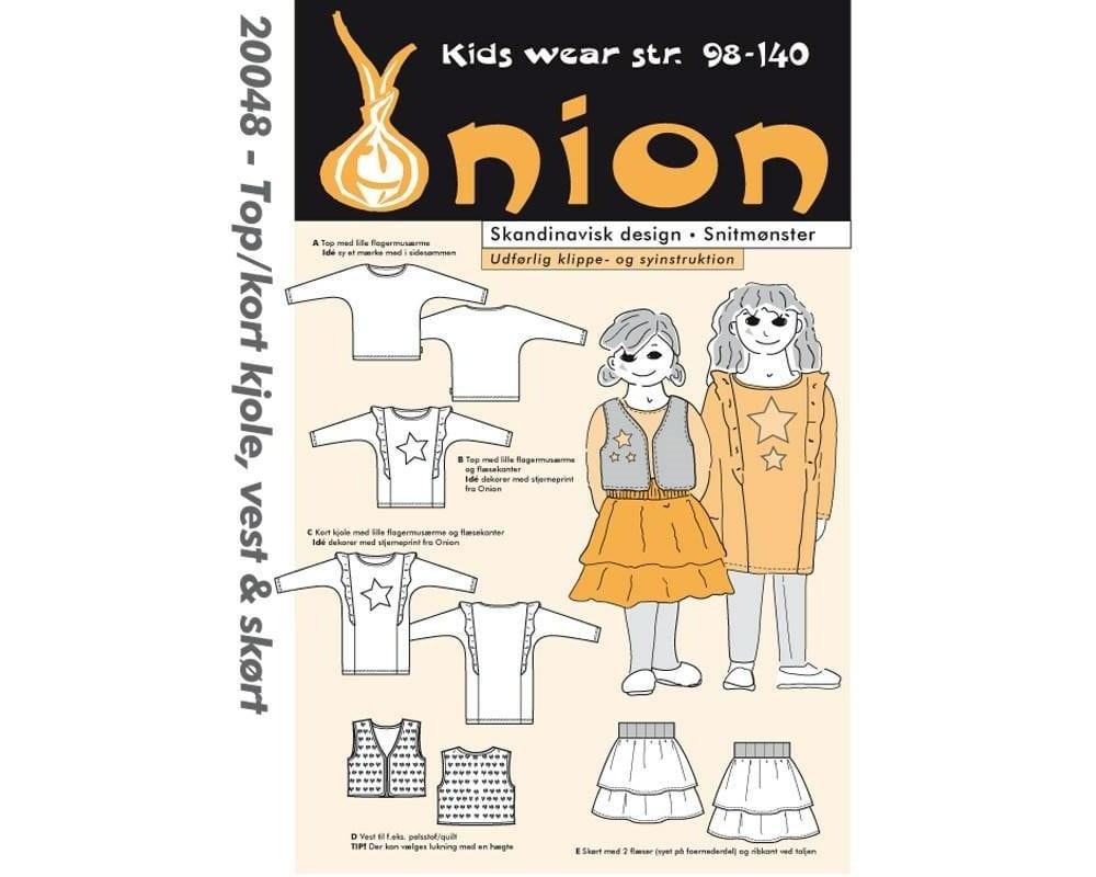 Billede af Onion Snitmønster 20048 (Top/kort kjole, vest & skørt)