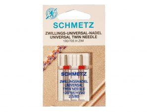 SCHMETZ Dobbelt / Tvillingenål (2.5 mm - Str. 80)