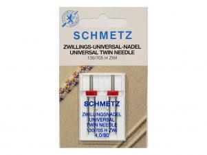 SCHMETZ Dobbelt / Tvillingenål (4.0 mm - Str. 80)