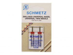 SCHMETZ Dobbelt / Tvillingenål (4.0 mm - Str. 90)