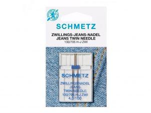 SCHMETZ Dobbelt / Tvillingenål - Jeans / Denim (4.0 mm - Str. 100)