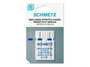 SCHMETZ Dobbelt / Tvillingenål - Strækstof (4.0 mm - Str. 75)