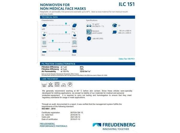 Freudenberg Vlieseline ILC 151 (Hvid) Pr. Meter