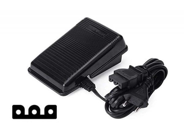 Elektronisk Fodpedal -  Div. Symaskiner 3 Ben (1 x Rund)