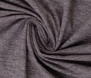 Glamoursweat - Isoli (Grå/sølv glimmer) Pr. Meter