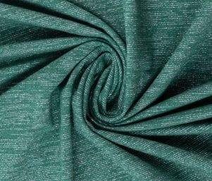 Glamoursweat - Isoli (Grøn/sølv glimmer) Pr. Meter