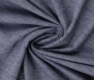 Glamoursweat - Isoli (Jeansblå/sølv glimmer) Pr. Meter