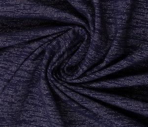 Glamoursweat - Isoli (Mørkeblå/sølv glimmer) Pr. Meter