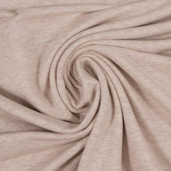 Vanessa Melange - Bomulds Jersey Solid (Off white) Pr. Meter