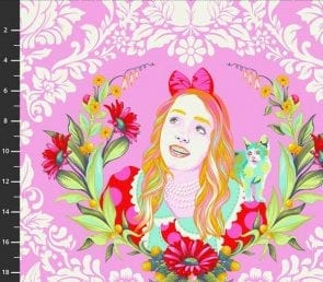 Tula Pink - Alice (Lyserød) Pr. Meter