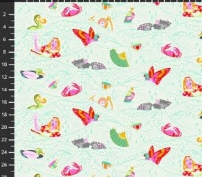 Tula Pink - sea of tears (lys) Pr. Meter