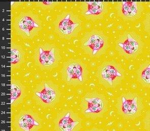 Tula Pink - Cheshire (Gul) Pr. Meter