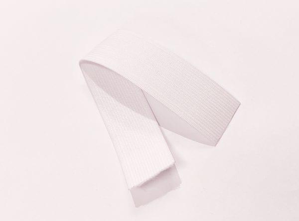 Bukseelastik (Soft) - Bredde 0.6 cm (Hvid) Pr. meter