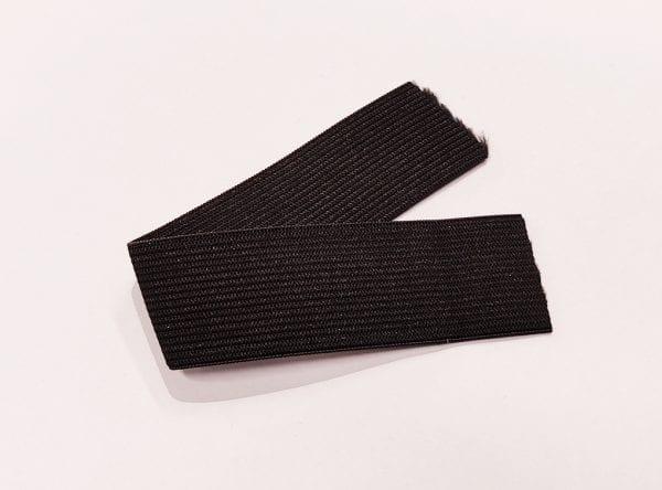 Bukseelastik (Soft) - Bredde 0.6 cm (Sort) Pr. meter