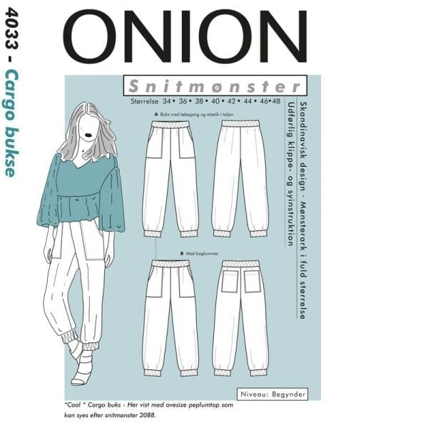 Onion Snitmønstre 4033 (Cargo bukse)