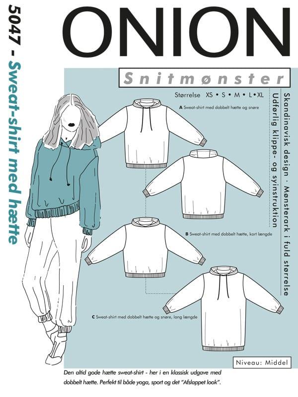 Onion Snitmønstre 5047 (Sweat-shirt med hætte)