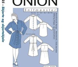 Onion Snitmønstre 9025 (Skjorte og skjortekjole)