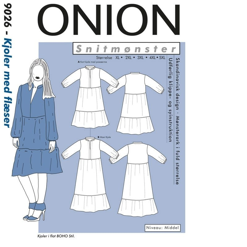 Onion Snitmønstre 9026 (Kjoler med flæser)