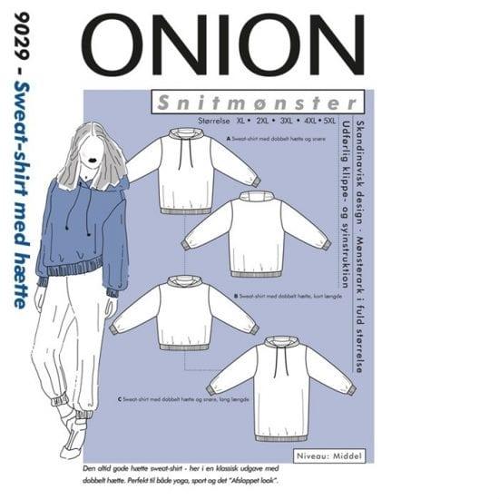 Onion Snitmønstre 9029 (Sweat-shirt med hætte)