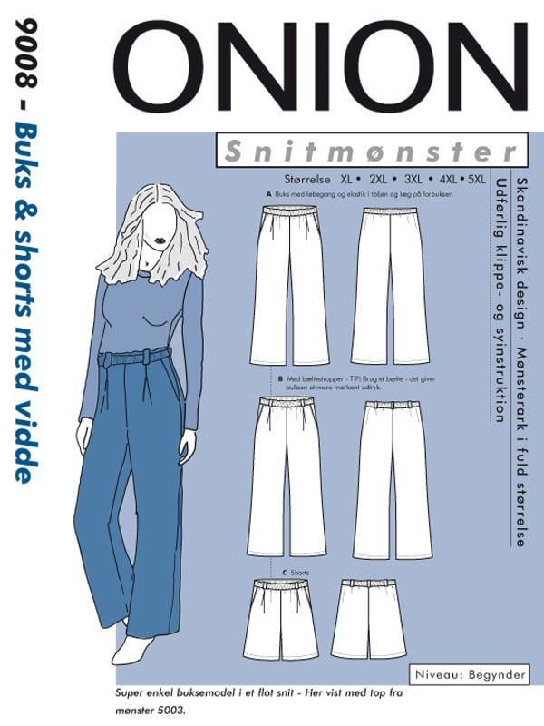 Onion Snitmønster 9008 (Buks & shorts med vidde)