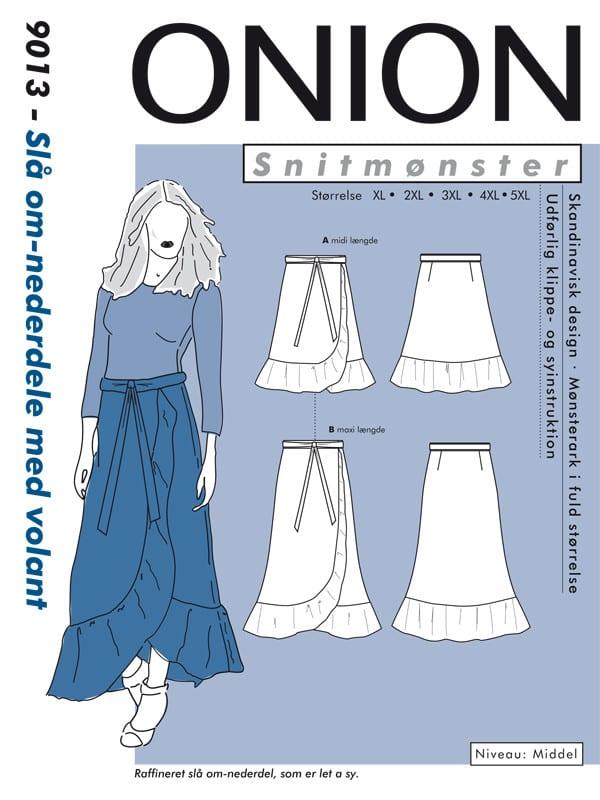 Onion snitmønster 9013 NYT Slå om-nederdele med volant