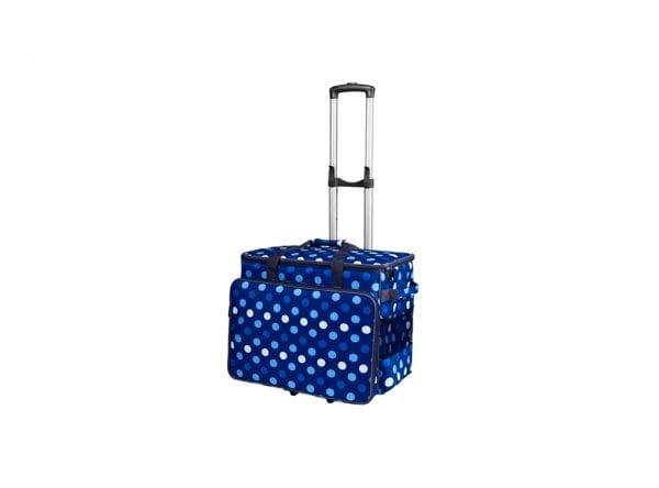 Taske Til Symaskine Inkl. Trolley (Blå & Hvid)