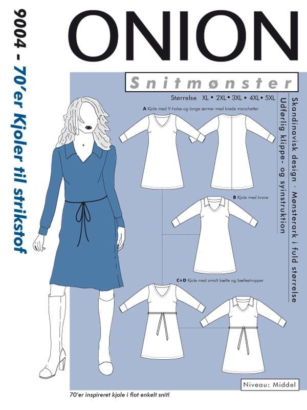 Onion Snitmønster 9004 (70'er kjoler til strikstof)