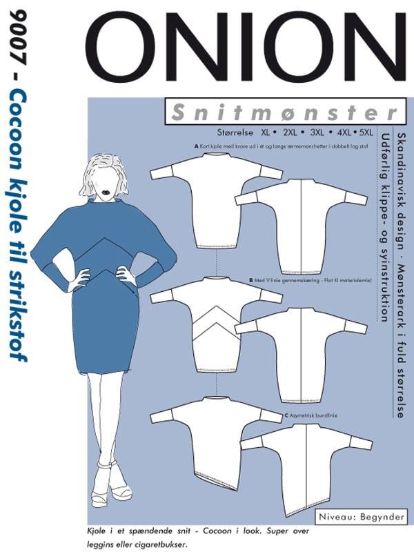 Onion Snitmønster 9007 (Cocoon kjole til strikstof)
