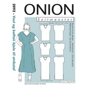 Onion snitmønster 2092 (Vest og kaftan kjole)