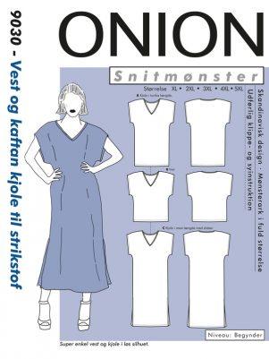 Onion snitmønster 9030 (Vest og kaftan kjole)