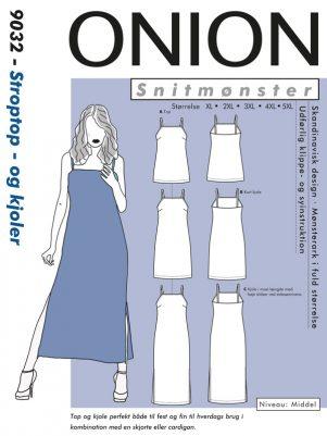 Onion snitmønster 9032 (Stroptop-og kjoler)